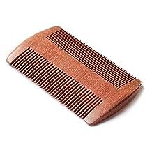 EQLEF® Red sandalwood no static handmade comb (beard)