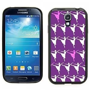 Pink Ladoo? Samsung Galaxy S4 Black Case - Ballerina dancing print. Ballerina on point, 1st position