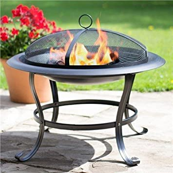 LIVIVO CURVED LEG OUTDOOR GARDEN FIRE PIT FIREPIT BRAZIER STOVE PATIO HEATER