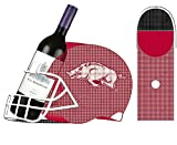Team Sports America University of Arkansas Razorbacks Football Helmet Bottle and Cork Cage Holder