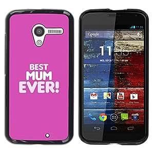 Paccase / SLIM PC / Aliminium Casa Carcasa Funda Case Cover para - Best Mom Mum Ever Mother Mothers - Motorola Moto X 1 1st GEN I XT1058 XT1053 XT1052 XT1056 XT1060 XT1055