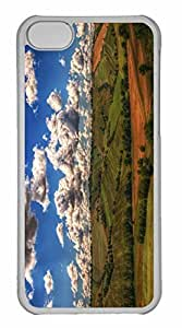 iPhone 5C Case, Personalized Custom Farmland 2 for iPhone 5C PC Clear Case