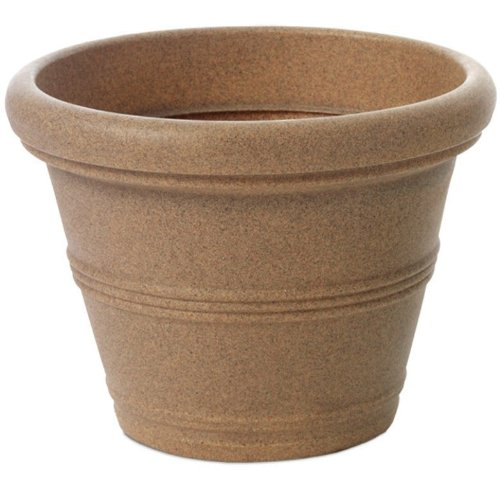 Tusco Products S245 Rolled Rim Pot, Round, Sandstone, 24.5-Inch ()