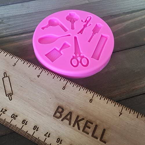 Small Hair and Barber Salon Pendant Decorating Silicone Mold from Bakell Beauty