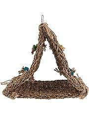 POPETPOP Vogel Zeegras Tent Hangmat Met Chew Speelgoed Vogel Foerageren Klimmen Mat Speelgoed Voor Vogels Valkparkiet Afrikaanse Grey Conure Van S