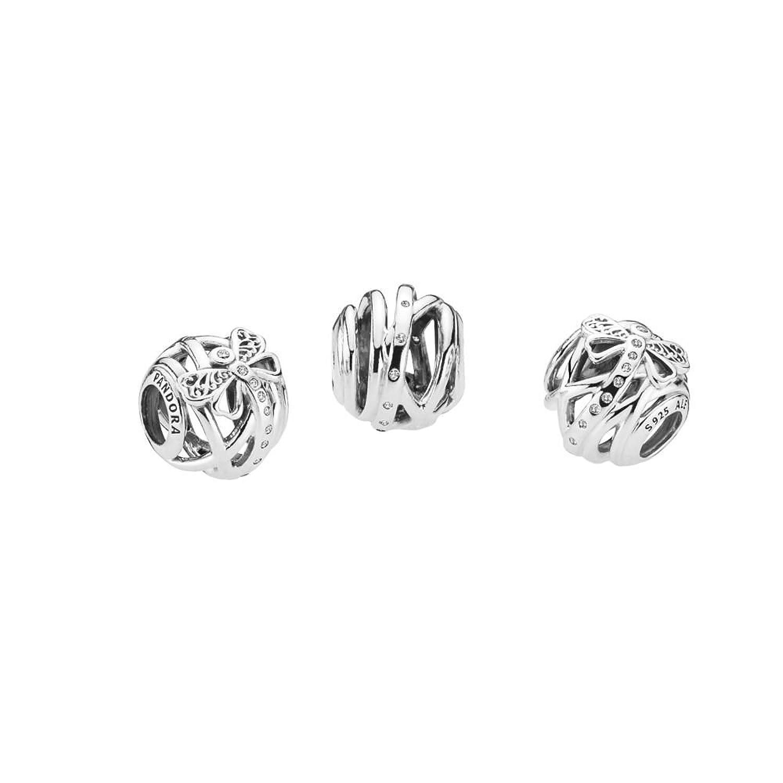 Pandora Women Silver Bead Charm - 797025CZ U0Yq9UWVys