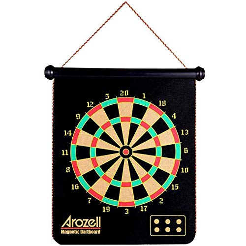 Read About Magnetic Dart Board with 12pcs Darts - Indoor Outdoor Game for Kids Adults - Safe Reversi...