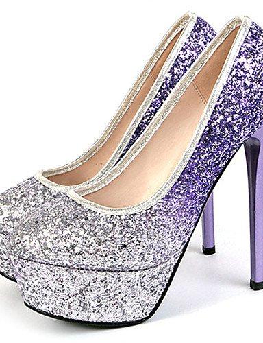 uk6 5 Semicuero purple uk5 us8 eu39 us8 cn39 us7 uk6 cn39 Stiletto eu39 Fiesta y cn38 Rosa Vestido Tacones eu38 Morado Noche purple 5 GGX Mujer purple Tacones Tacón AxwTzWqRS