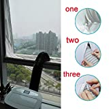 H+K+L Practical Airlock Window Door Sealing For Mobile Air Conditioners And Exhaust Air Dryers (white)