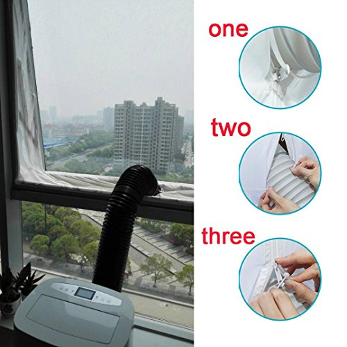 H+K+L Practical Airlock Window Door Sealing For Mobile Air Conditioners And Exhaust Air Dryers (white) by H+K+L