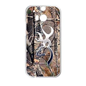 JDSitem Realtrees Real Tree Camo Design Browning Cutter Case Cover Sleeve Protector for Phone HTC One M8 (Laser Technology)