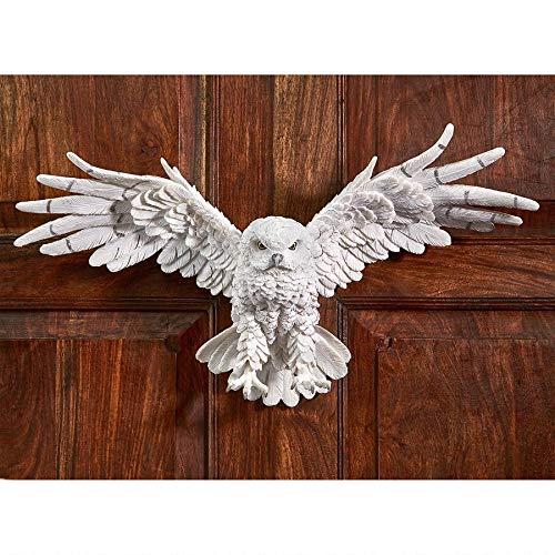 Design Toscano JQ9623 Mystical Spirit Owl Wall Sculpture Full Color Realistic
