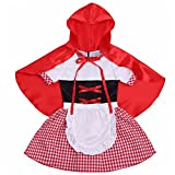 FEESHOW Baby Girls Little Red Riding Hood Halloween Costumes Cosplay with Cloak