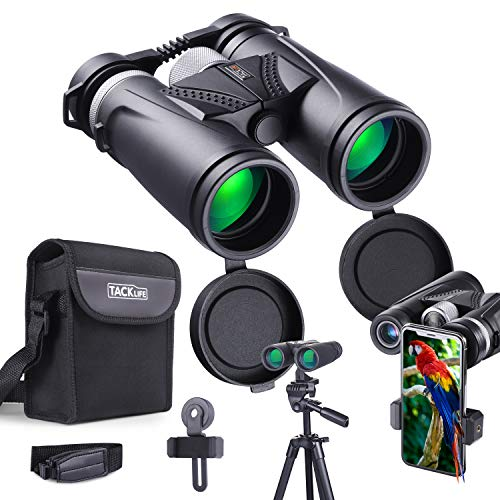 Binoculars 10×42 with Night Vision BAK4 Prism, Fully Multi-Green Coated Lens, Rotating Eye Mask for Adults, Bird Watching, Concerts, Camping, L Bracket, Phone Adapter, Carry Case Included – MBC02