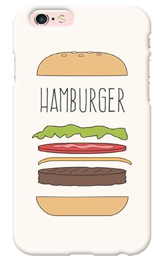 Amazon Wn可愛いハンバーガー絵アートおもしろいイラストユニークな