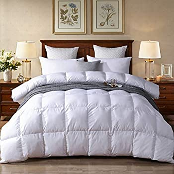 Image of Acrafsman King Size White Goose Down Comforter,1000Thread Count 100% Egyptian Cotton Fabric, All Season Down Duvet Comforter 700+Fill Power King Size(106x90inches)