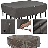 Heavy Duty Patio Furniture Set Cover Extra Large Sized Grey Waterproof Weather Resistant Table and Chair Outdoor Cover Patio Fabric Dining Set Cover eBook by Easy&FunDeals