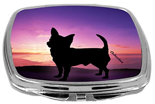 Rikki Knight Compact Mirror, Chihuahua Dog at Sunset, 3 Ounce