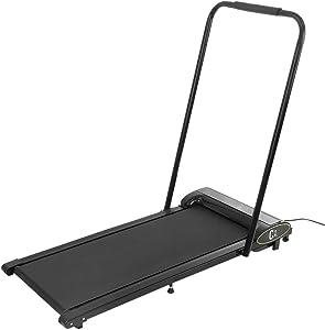 Under Desk Folding Treadmills for Home 300 lb Weight Capacity - Foldable Treadmill LED Display Screen 0.5-4 MPH Speed P01-P12 Program Wireless Control