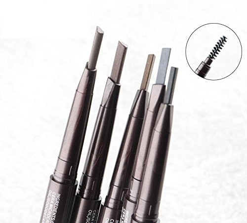 Double eyebrow pencil Quality goods waterproof and sweat Thrush artifact can not automatically rotating permanent shading eyebrow powder by VAV HTLS LLC
