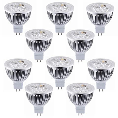 Meiyiu 10 PCS Dimmable LED Bulbs Warm White LED Spotlights Equivalent 60 Degree Beam Angle for Landscape Recessed Track - Quiet Electronic Low Voltage Dimmer