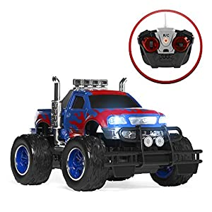 Best Choice Products Kids RC Remote Control Monster Truck Toy w/ Headlights from Best Choice Products