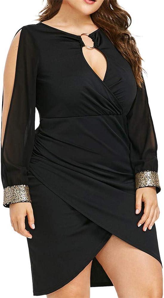 FELZ Vestidos Vestidos para Mujer, Vestidos de Fiesta Mujer, Vestidos Mujer Talla Grande, Vestido de Noche Largo Elegante, Vestido Lentejuelas Mujer: Amazon.es: Ropa y accesorios