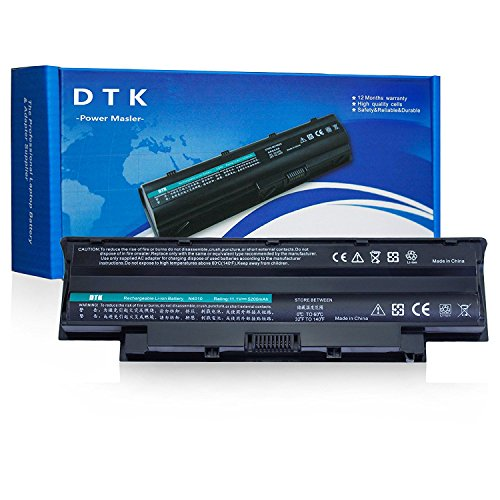 DTK New Laptop Battery for Dell Inspiron 3420 3520 N5110 N5010 N4110 N4010 N5040 N5050 N7110 N3010 M5110 M4110 M501 M503, Fits P/n J1knd 4t7jn [6-Cell 5200mah/49wh] (Mini Dell Laptop Battery)