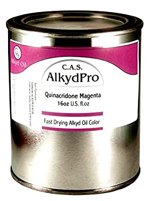 C.A.S. Paints AlkydPro Fast-Drying Oil Color Paint Can, 16-Ounce, Quinacridone Magenta