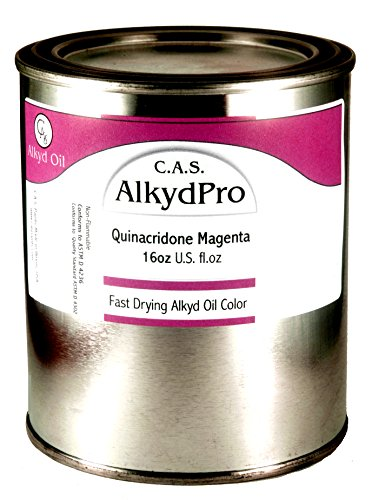 C.A.S. Paints AlkydPro Fast-Drying Oil Color Paint Can, 16-Ounce, Quinacridone Magenta by C.A.S. Paints