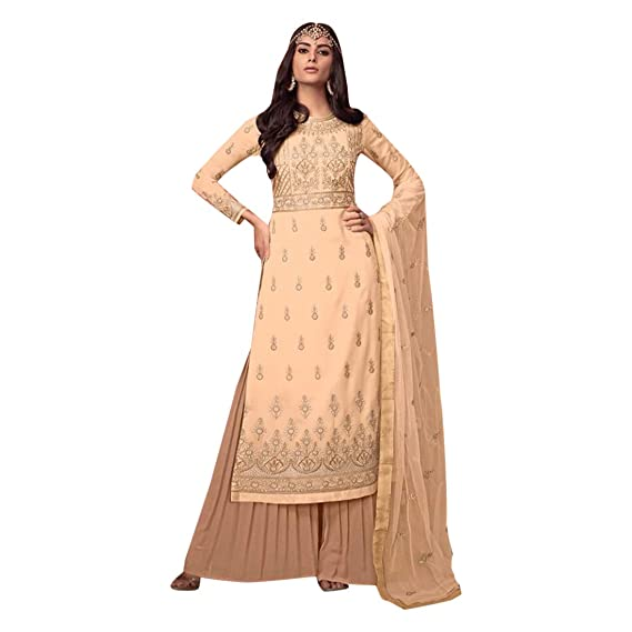 Buy Indian Ethnic Party Wear Light To Wear Designer Salwar Kameez Suit Palazzo Muslim Women Wear 7368 At Amazon In