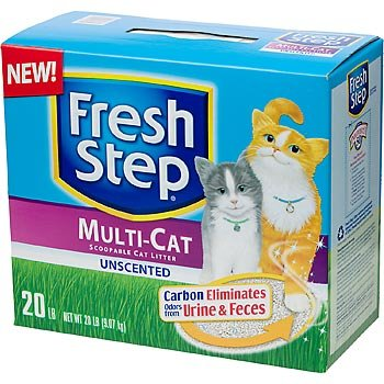 Fresh Step Premium Scoopable Unscented Clumping Cat Litter Multiple Cat Strength, 20 lbs., My Pet Supplies