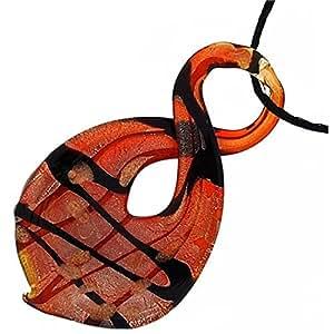 The Olivia Collection rojo diseño de figura de 8cristal corte colgante cadena de 18,5cm