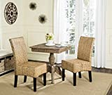 """wicker dining room chairs Safavieh Home Collection Luz Natural Wicker Dining Chair (Set of 2), 18"""", Brown"""