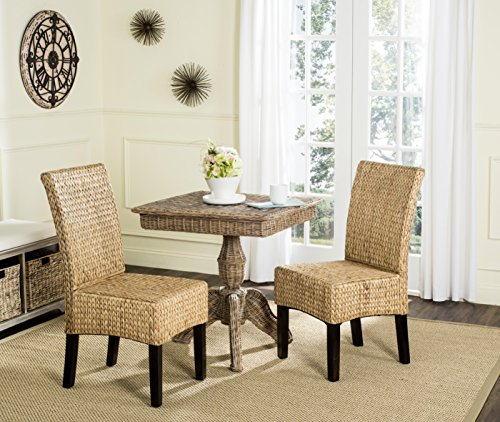 Large Natural Wicker - Safavieh Home Collection Luz Natural Wicker Dining Chair (Set of 2), 18