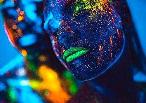 UV LED Black Light Fixtures,Aplstar 6W Portable Blacklight Lamp for Stain Clean,Neon Paint Art,UV Body,Glow Party,UV Poster by Aplstar (Image #3)