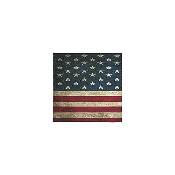 Diseño de bandera de Estados Unidos Custom mano toalla absorbente (13 x 13 cm)
