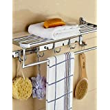 qiuxi Bathroom towel bars Contemporary Stainless Steel Chrome Wall Mounted Towel Warmer