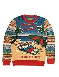 Ugly Christmas Sweater Plus Size Women's Hangin Loose Light Up Sweatshirt-2XL