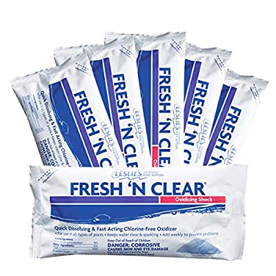 Leslie's Fresh 'N Clear Oxidizing Pool & Spa Shock 1 Lb [Pack of 6] : Garden & Outdoor