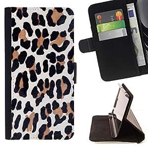 Momo Phone Case / Flip Funda de Cuero Case Cover - Brown animal fourrure noire - HTC DESIRE 816
