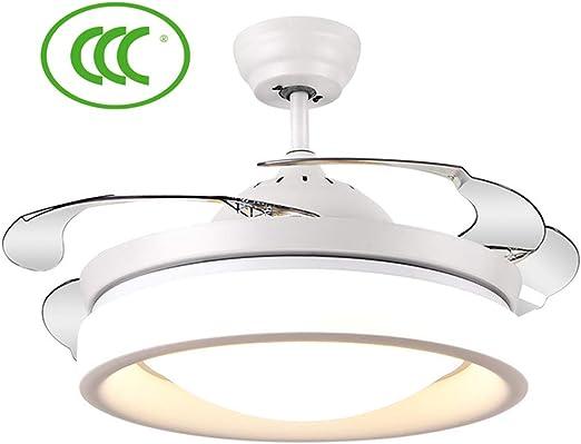 MAI&BAO Ventilador de Techo con lámpara LED luz del Ronda Blanca ...