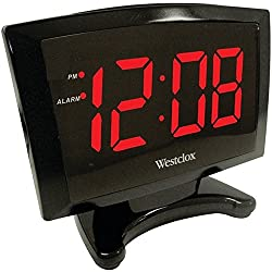 Westclox 70028 Digital Alarm Clock 1.8 Plasma Red LED Display Black Consumer electronics