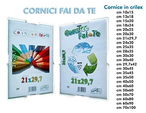 CORNICE A GIORNO 15X20 CRILEX ANTINFORTUNISTICO CORNICI PORTAFOTO PICOGLASS
