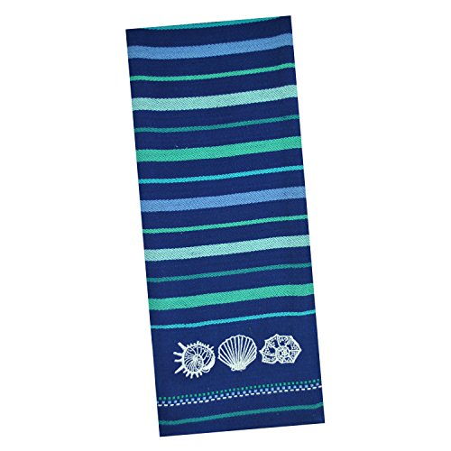 DII Cotton Embroidered Blue Sea Dish Towels, 18 x 28'' Set of 3, Decorative Oversized Kitchen Towels for Everyday Cooking and Baking by DII (Image #3)