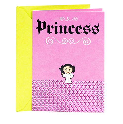 Hallmark Birthday Greeting Card for Girls (Star Wars Princess Leia)