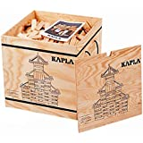 KAPLA 1000 Blocks Natural Unfinished Wood Pine Planks with Storage Box and Guide Book