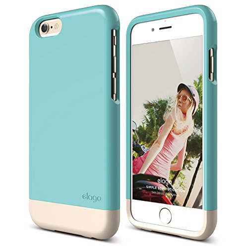 iPhone 6 Plus Case, elago [Glide Limited-Edition][Coral Blue/Champagne Gold] - [Mix and Match][Premium Armor][True Fit] - for iPhone 6 Plus Only