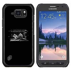 Caucho caso de Shell duro de la cubierta de accesorios de protección BY RAYDREAMMM - Samsung Galaxy S6Active Active G890A - En la era de la información La ignorancia es una opción