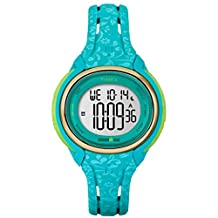 Timex Ironman 50-Lap Mid Size Sleek Blue Floral Resin Strap Watch TW5M03100 …